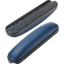Replacement Armrest Padded Vinyl Navy Blue Desk Package of 2