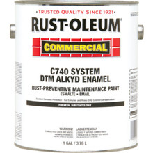 1 Gallon Rust-Oleum Commercial DTM Alkyd Enamel Paint - Safety Yellow