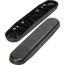 Replacement Armrest Plastic Black Desk Package of 2