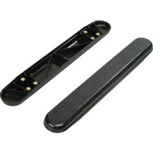 Replacement Armrest Plastic Black Full Package of 2