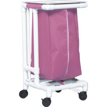 IPU Single Hamper With Foot Pedal 32 Gallon Wineberry Mesh