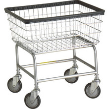 R and B Wire Laundry Cart Standard Chrome Package of 2