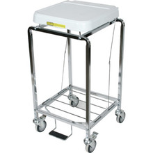 R and B Wire Tubular Hamper With Foot Pedal Single