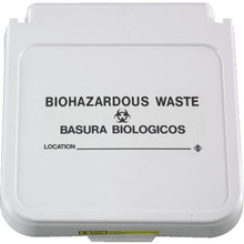 R and B Wire Hamper Label Biohazardous Waste Package of 5