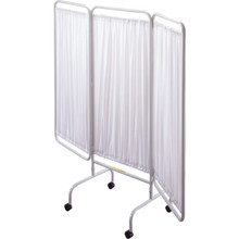 """Privacy Screen White 69""""Lx81""""W With Casters"""