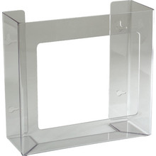 Glove Box Holder Acrylic Double Horizontal Orientation