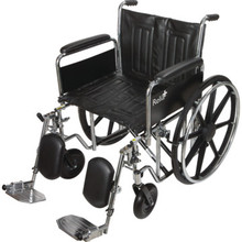 ReliaCare Wheelchair 22W Full Length Arms Elevating Leg Rests