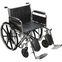 ReliaCare Wheelchair 24W Full Length Arms Elevating Leg Rests