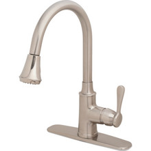 Seasons Anchor Point Kitchen Faucet Brushed Nickel Single Handle Pull-Down