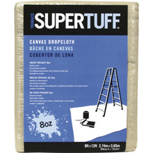 Canvas Drop Cloth, 8 Oz, 9 x 12'