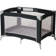 Foundations Sleep N Store Play Yard Crib Mod Plaid Graphite