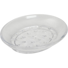 Plastic Oval Soap Dish Clear Case Of 36