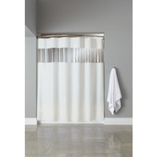 Hooked Vinyl Vision Shower Curtain 72 x 72 White Case Of 12