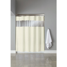 Hooked Vinyl Vision Shower Curtain 72 x 72 Beige Case Of 12