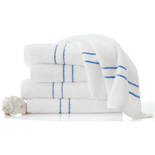Morning Glory Pool Towel 24x50 10.5Lbs/Doz White With Blue Border Case Of 12