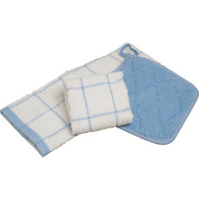 Kitchen Towel 15x25 White With Blue Check Package Of 12