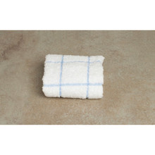 Dish Cloth 12x12 White With Blue Check Package Of 12