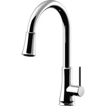 Pfister Pfirst Series Kitchen Faucet Chrome Single Handle Pull-Down