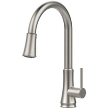 Pfister Pfirst Series Kitchen Faucet Brushed Nickel Single Handle Pull-Down
