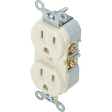 15 Amp Commercial Duplex Receptacle - Side-Wired - Ivory - Package of 10