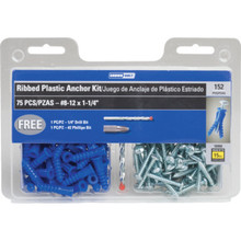 152-Piece Plastic Anchor Kit