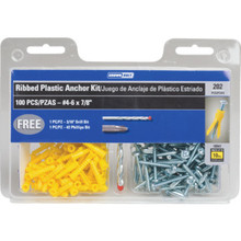 202-Piece Plastic Anchor Kit