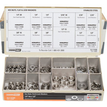 Stainless Steel Nut And Washer Assortment Kit