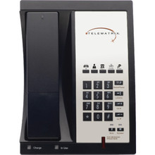 TeleMatrix Single Line Black Telephone