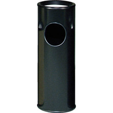Rubbermaid 3.5 Gallon Black Sand Top Urn And Trash Receptacle
