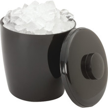3 Quart Plastic Round Ice Bucket Black