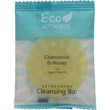Eco Botanics Chamomile & Honey Cleansing Bar 14 g Sachet Wrapped 1000/Cs