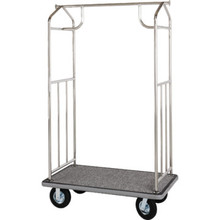 Chrome Transporter Bellman's Cart Gray Deck