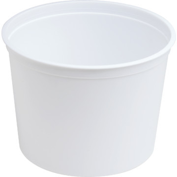 Generic Plastic 64 Oz Round Ice Bucket in White