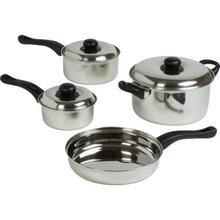 7-Piece Stainless Steel Pot/Pan Set