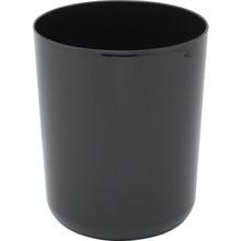 8 Quart Laquerware Trash Can Black