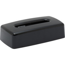Lacquerware Black Flat Tissue Box