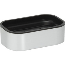 Contempo Brushed Silver Soap Dish