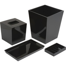 6 Quart Spa Trash Can Black