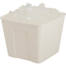 3 Qt. Square Ice Bucket, No Handles Cream 36/Pkg