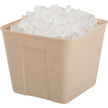 3 Qt. Square Ice Bucket No Handles Beige 36/Pkg