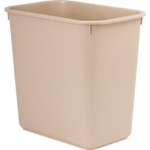 8 Qt. Rectangular Wastebasket Beige 12/Pkg