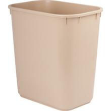 13 Qt. Rectangular Wastebasket Beige 12/Pkg