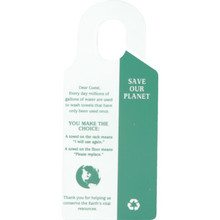 Save Our Planet Towels Hanging Sign Package Of 50