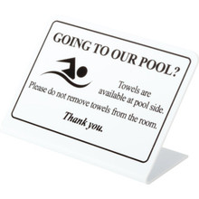 Pool Towels Available Poolside Easel Package Of 50