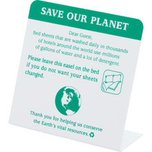 Conservation Save Our Planet Do Not Change Sheets Easel Case of 50