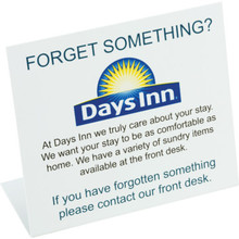 Days Inn Forget Something Easel Package Of 25