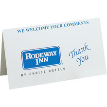 Rodeway Inn Comment Card Package Of 100