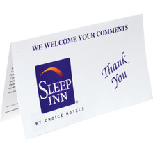 Sleep Inn Comment Card Package Of 100