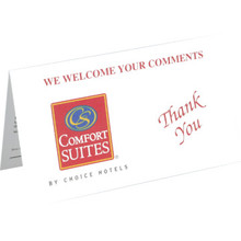 Comfort Suites Comment Card Package Of 500