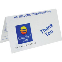 Comfort Inn Comment Card Package Of 100